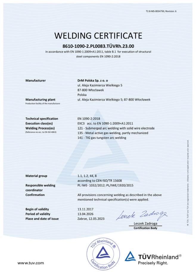 Drm polska en 1090 2 exc3 welding certificate xflitez Image collections